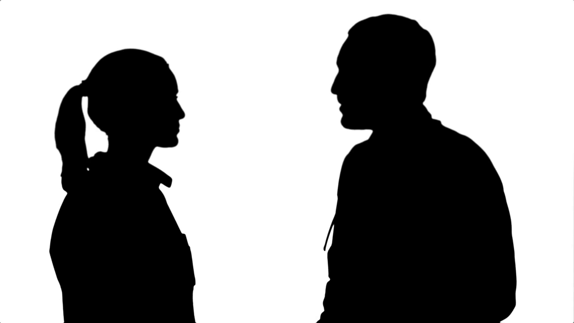 1920x1080 Silhouette Young Man Doctor And Beautiful Nurse Shaking Hands
