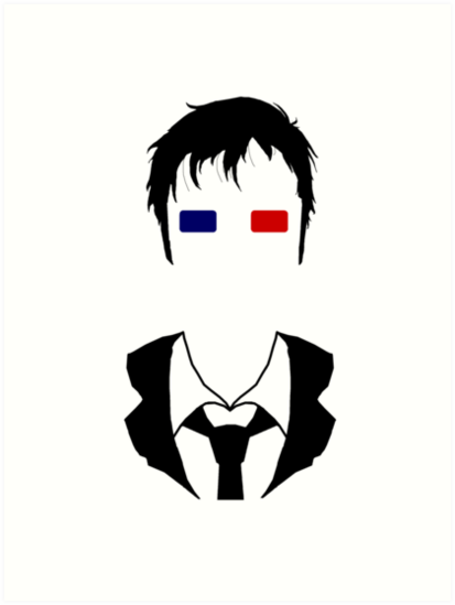 413x549 Tenth Doctor Silhouette Art Prints By Amobt Redbubble