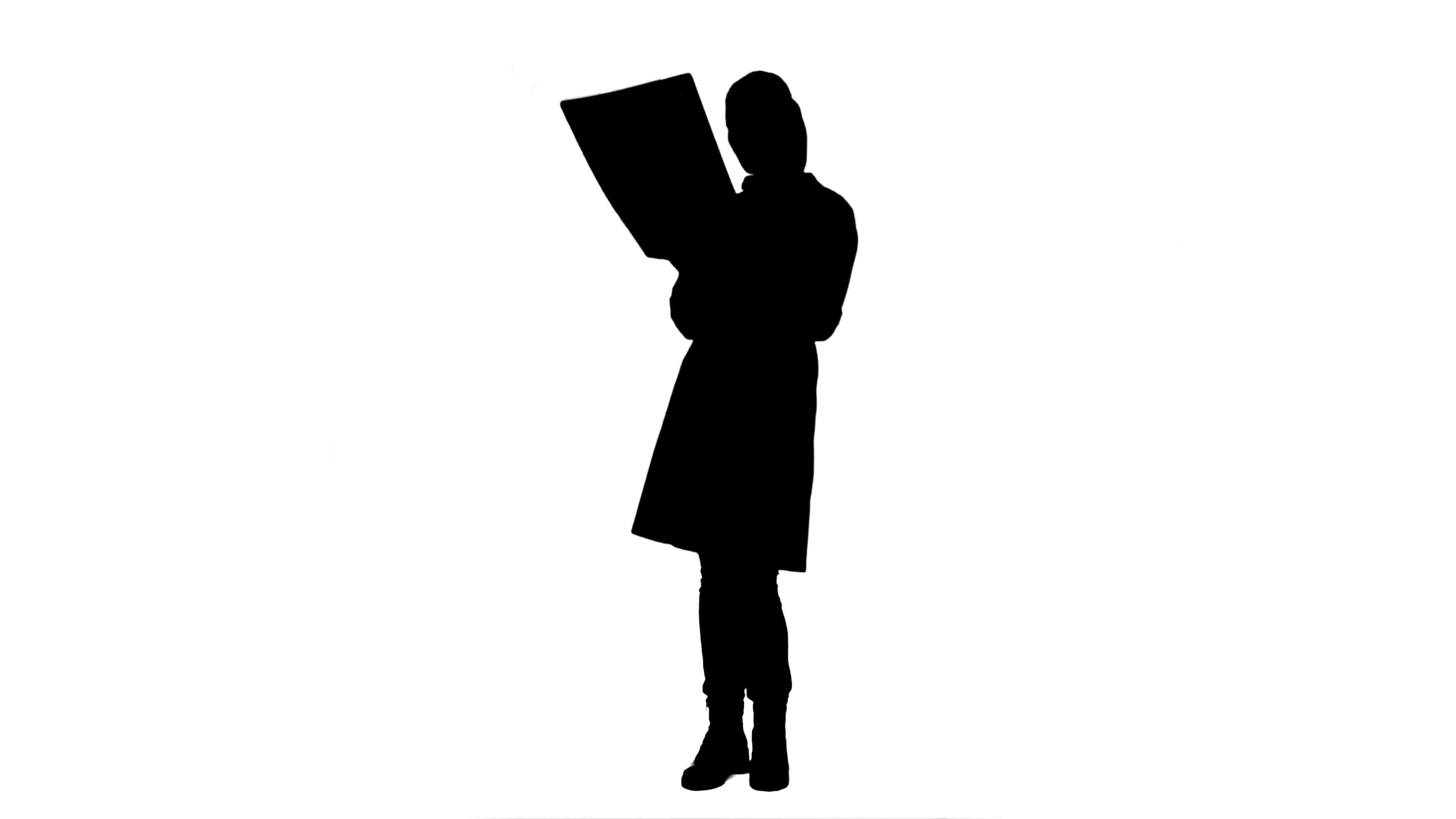3840x2160 Video Silhouette Female Doctor Looking