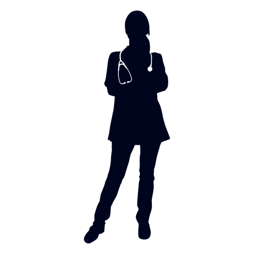 512x512 Doctor Hands Crossed Silhouette