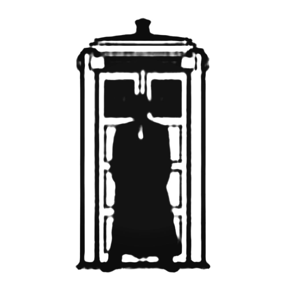 1000x1000 Doctor Who Silhouette Tardis Decal Sticker