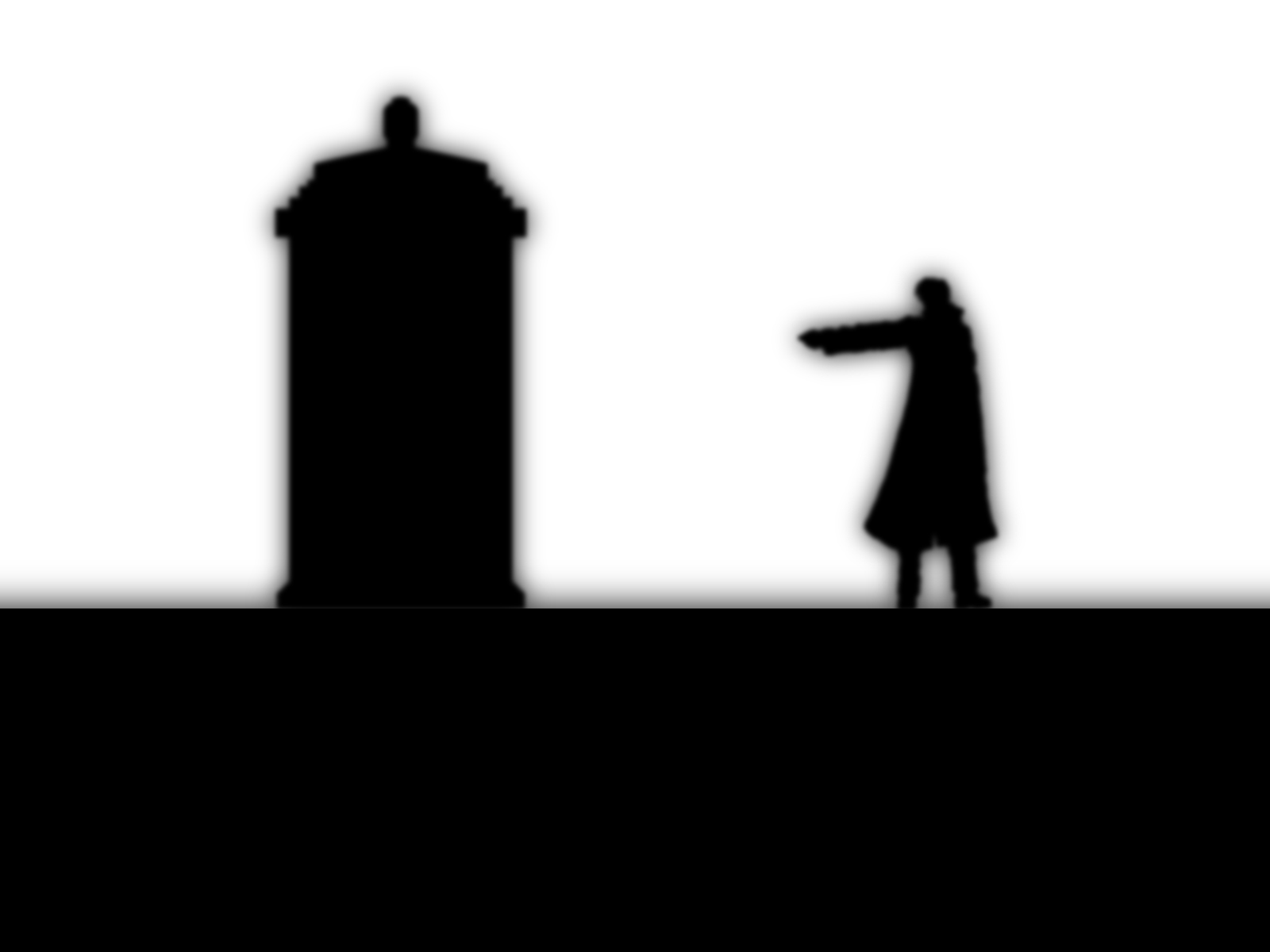 1600x1200 Tenth Doctor, Doctor Who, Silhouette, Monochrome Wallpapers Hd