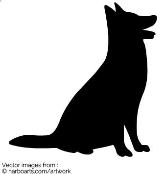 335x355 Download Sitting Dog Silhouette
