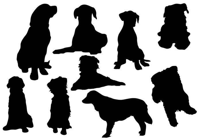 700x490 Free Dog Silhouette Vector