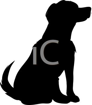 307x350 Royalty Free Clipart Image Animal Silhouette Of A Family Dog