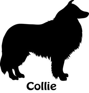 287x300 Collie Clipart Image Silhouette Of A Collie Dog Dog Clipart