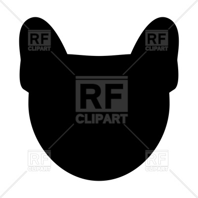 400x400 Dog Head Silhouette Royalty Free Vector Clip Art Image