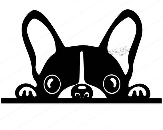 570x456 Peeking Dog Svg Silhouette Clipart, Canine, Family Pet, Dog