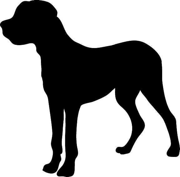576x564 Dog Silhouette
