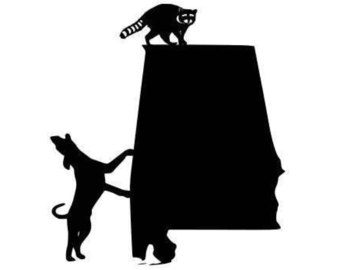 340x270 Coon Dogs Hunting Cutting Files Silhouette Svg, Dxf And Eps Vinyl