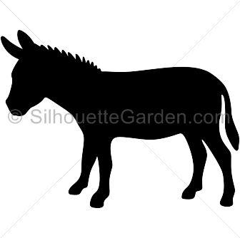 Silhouette Donkey