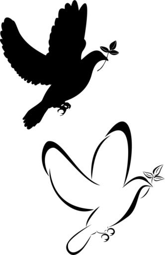 Silhouette doves at getdrawings free for personal use 332x514 18 latest dove tattoo designs voltagebd Images