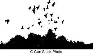 300x176 Flock Of Doves Heading To The Skies Vectors