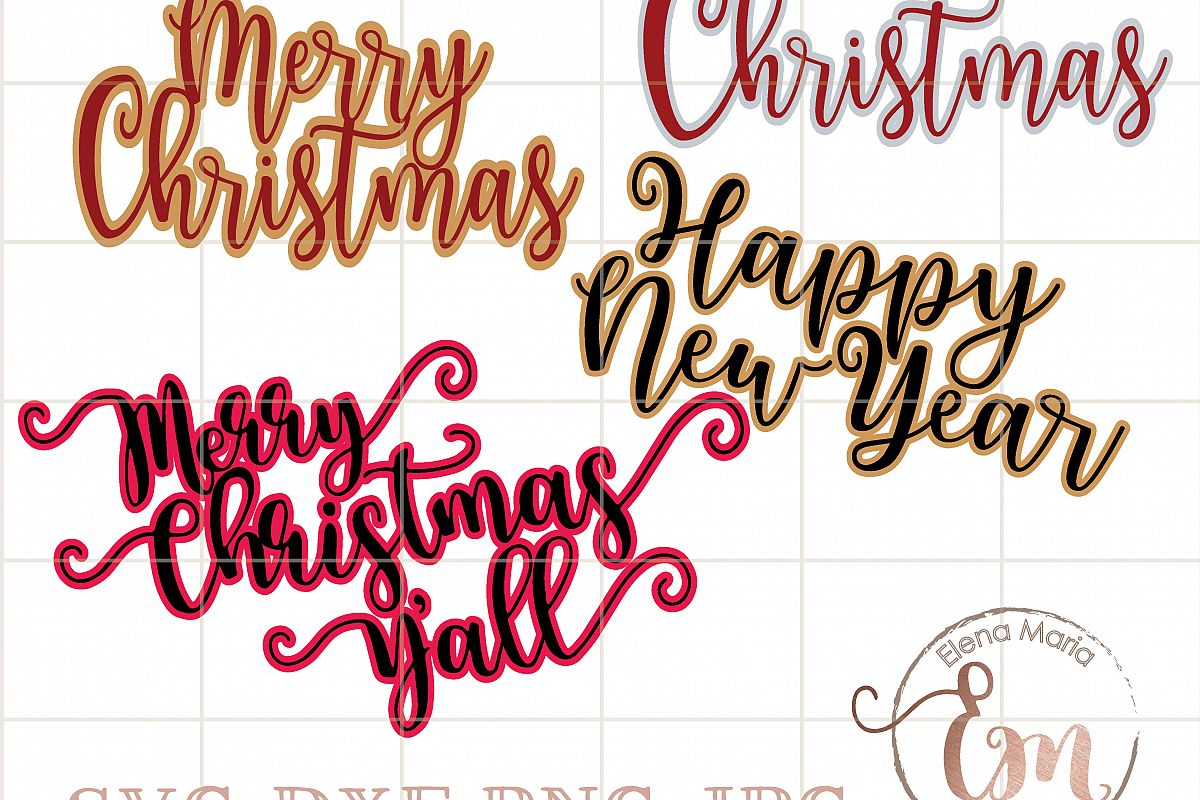 1200x800 Merry Christmas Double Layer Bundle. Sv Design Bundles