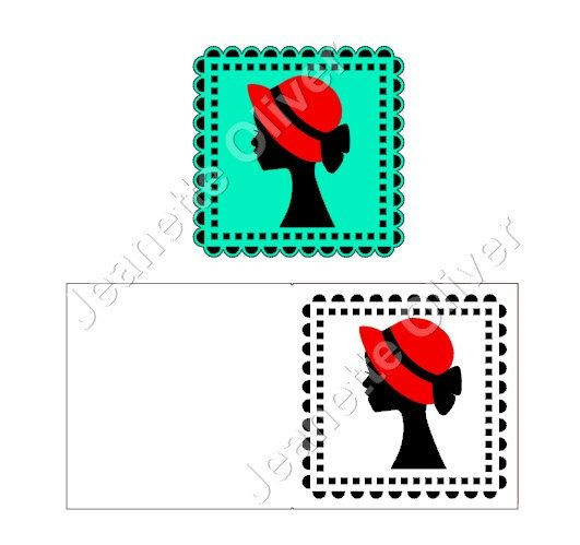 531x499 Silhouette Lady With Hat Topper And Aperture Card Svg Digital