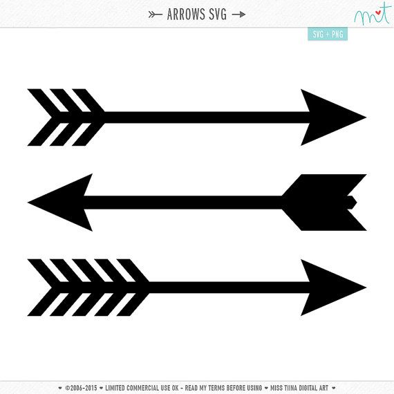 570x570 Arrows Svg Digital Die Cut Files For Cutting Machines, Card Making