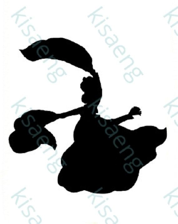 570x717 Downloadable Digital Stamp Profile Silhouette Dancing By Sonkido