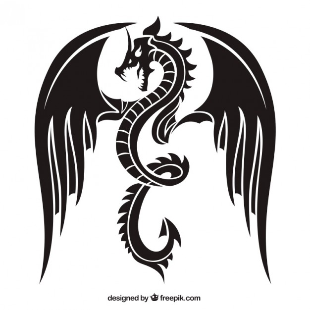 626x626 Dragon Silhouettes Vector Free Download