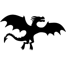 263x262 Flying Dragon Silhouette Free Svg Silhouettes