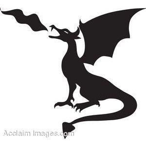 300x300 Img Thing Stencils Dragon Silhouette