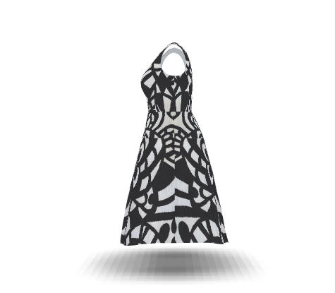 475x415 Design Your Own Flared Calf Length Dress, Plus Size And Get It