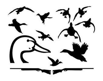 340x270 Duck Hunt Svg Dxf File Instant Download Silhouette Cameo Cricut