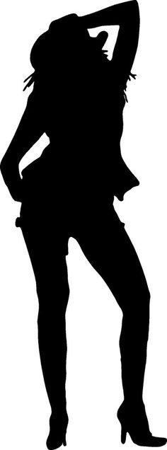 236x636 The Silhouette Of A Cowboy And Cowgirl Being Romantic. Solid Shape