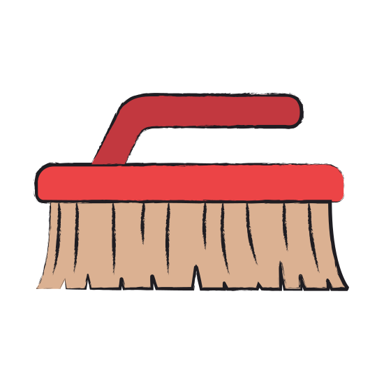550x550 Colored Blurred Silhouette Of Cleaning Brush