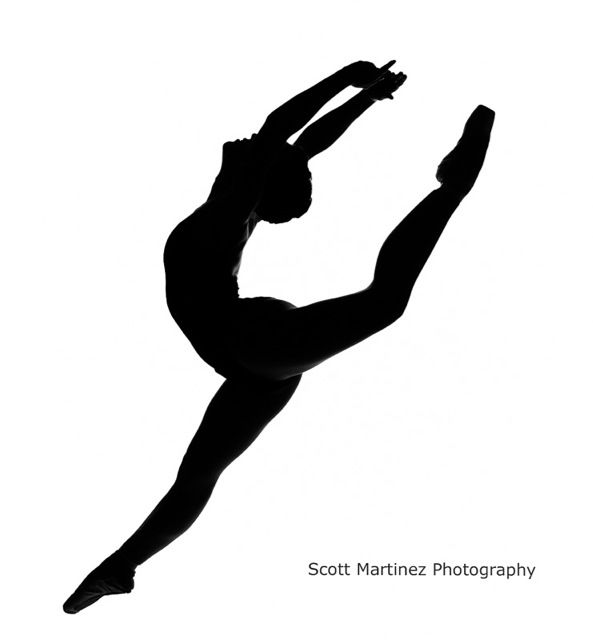 593x640 Dancer Jumping Silhouette By