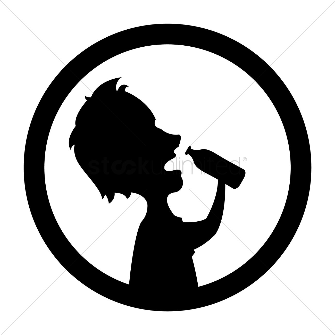 1300x1300 Silhouette Of Man Drinking Water Vector Image