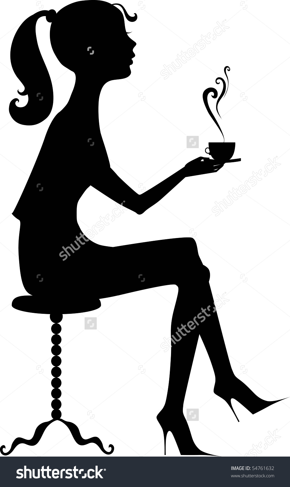 953x1600 Free Drinking Silhouette Clipart