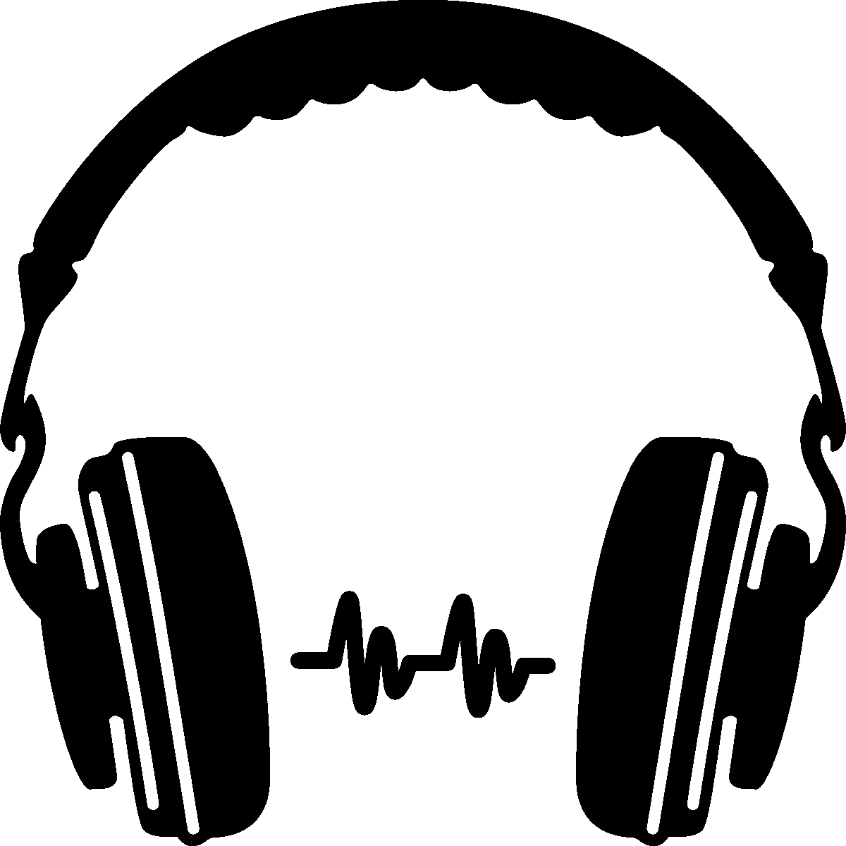 1200x1200 Download Headphone Silhouette Clip Art Hq Png Image In Different