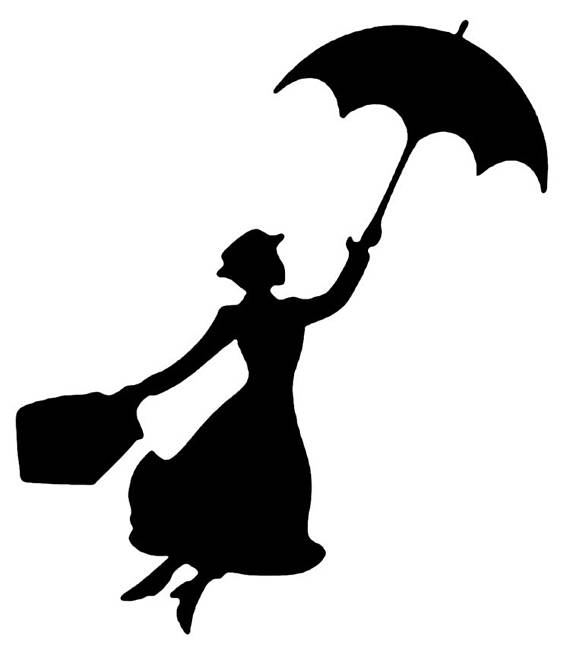 570x654 Disney Mary Poppins In Flight Stencil Profile 5 Formats Stencils