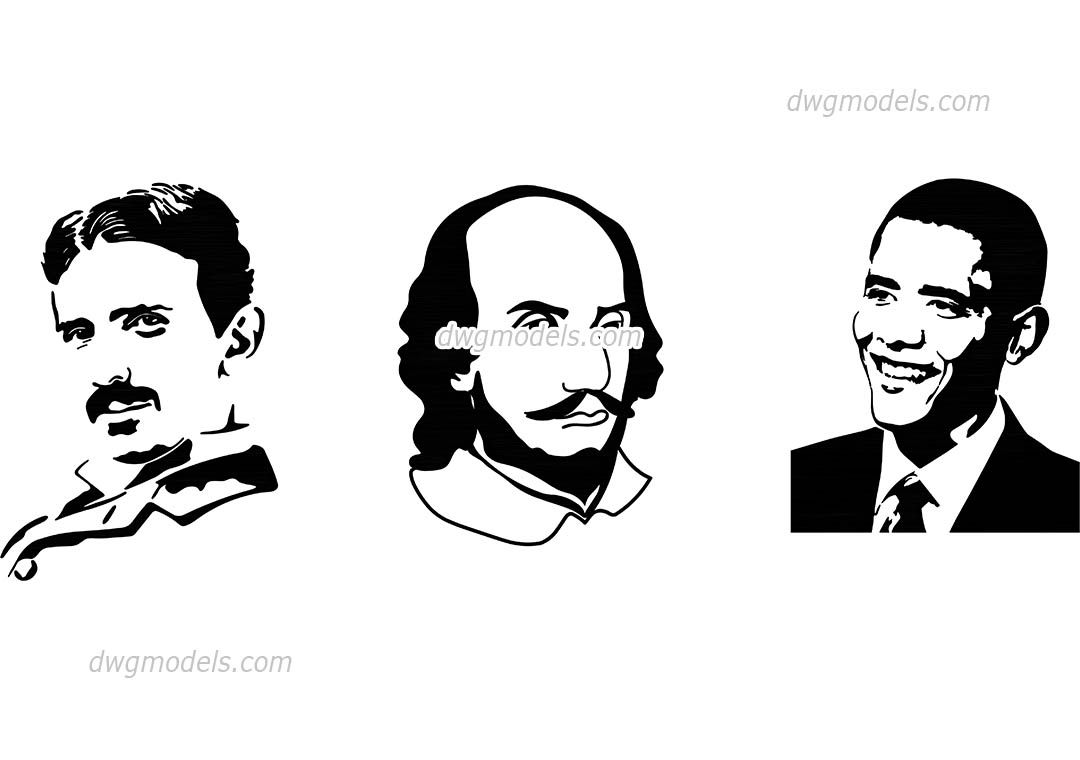 1080x760 Famous People Silhouettes