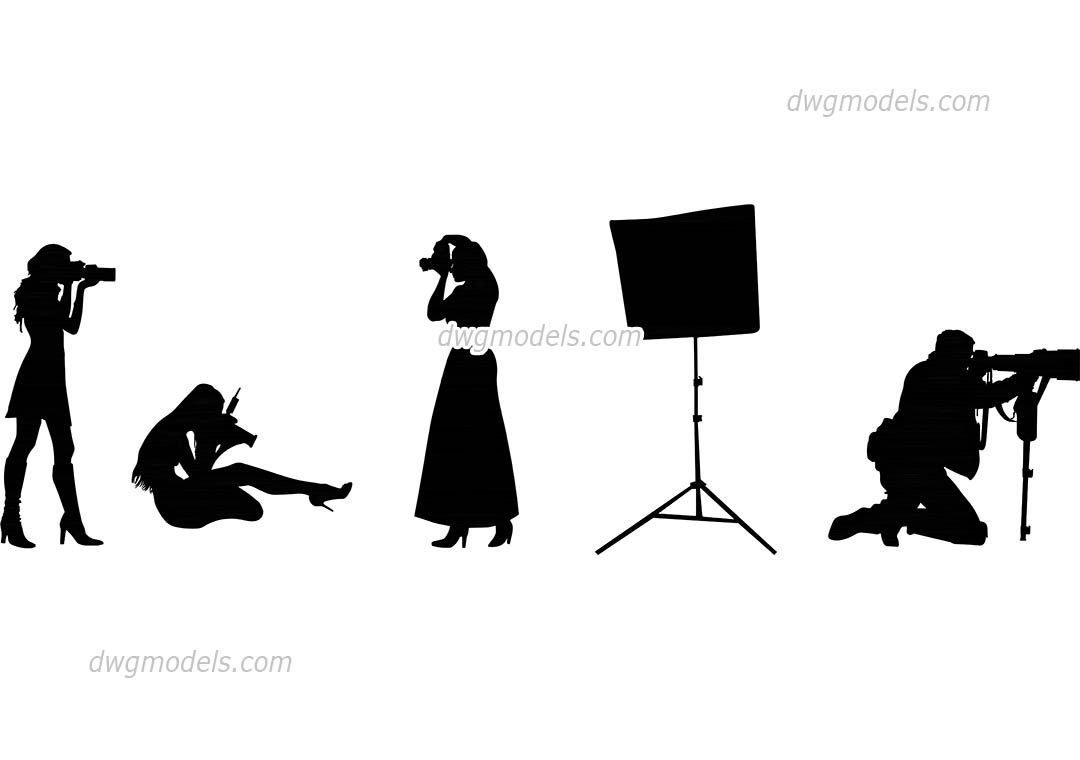 1080x760 People Photographers Dwg, Free Cad Blocks Download