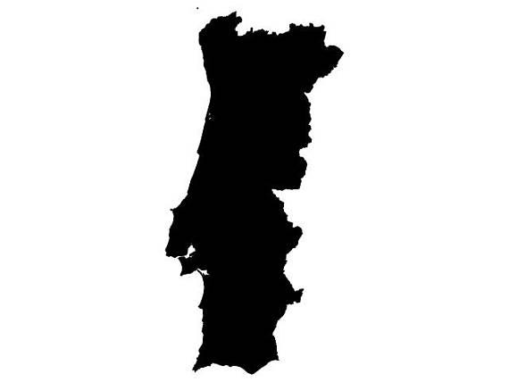 570x428 Portugal Map Vector Digital Download File Dxf Dwg Svg