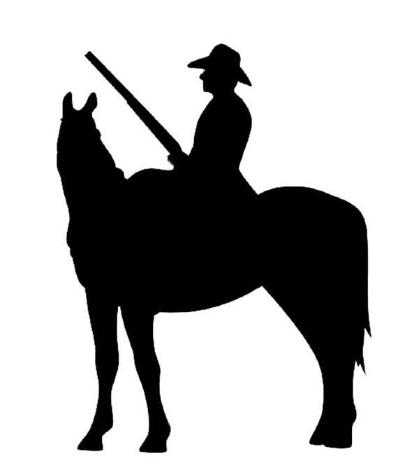 570x676 Stencil Cowgirl Cowboy Riding Far West America Stencils Digital