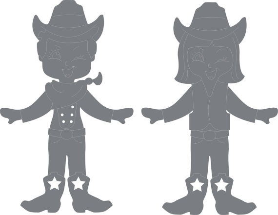 570x441 Cowboy And Cowgirl Wood Decoratives Cnc Laser Cdr Dxf Svg Dwg