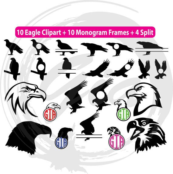 570x574 Eagle Svg Eagle Head Svg Eagle Monogram Frames Svg Ready