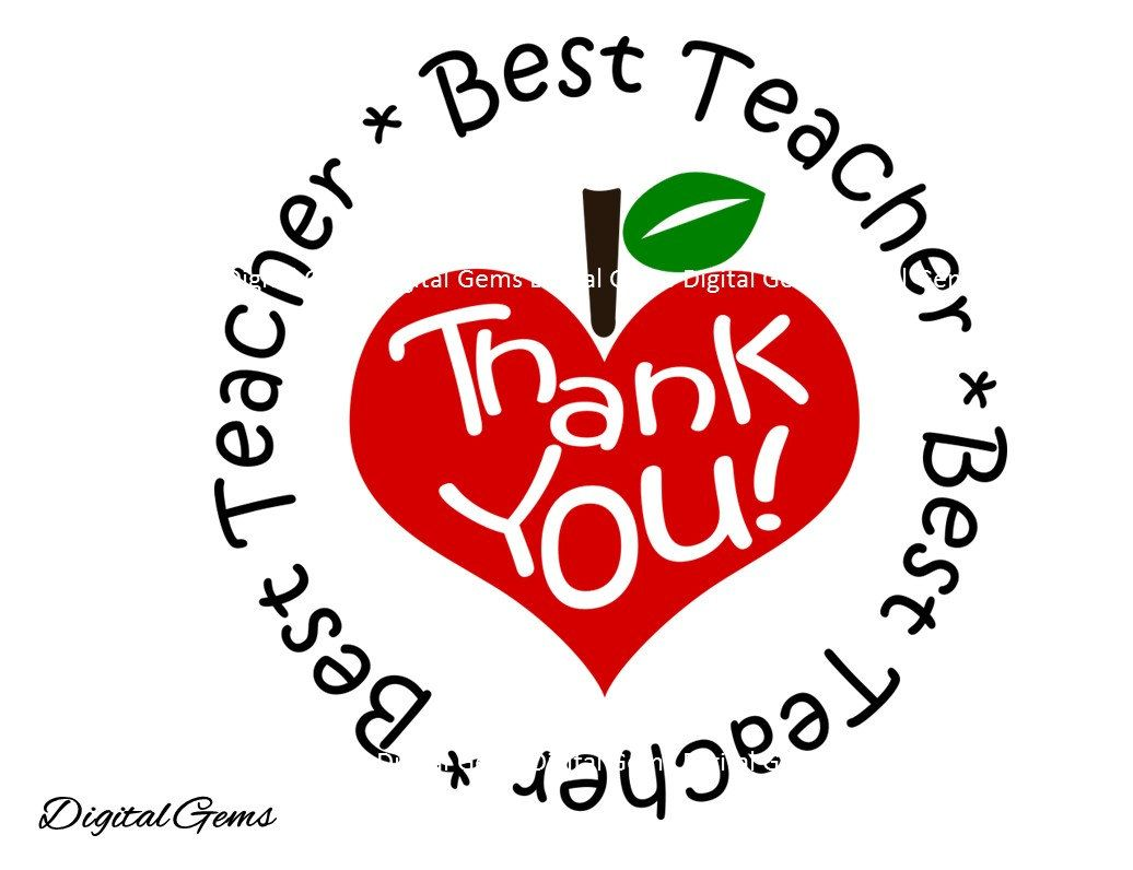 1036x796 Best Teacher, Thank You Teacher Svg Dxf Cutting File For Cricut