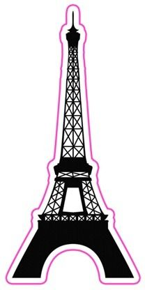 208x416 Eiffel Tower Silhouette Clipart Free Stock Photo Public Domain