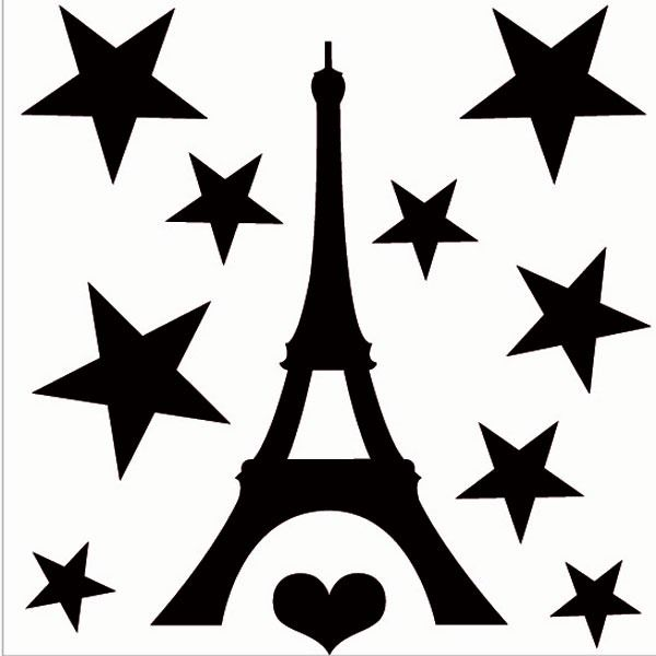 600x600 Small Black Eiffel Tower Decal Pic To See Tower