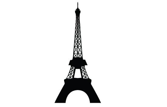 550x354 Eiffel Tower Vector Silhouette Mydrlynx