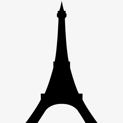 400x400 European And American Architectural Silhouettes, Eiffel Tower