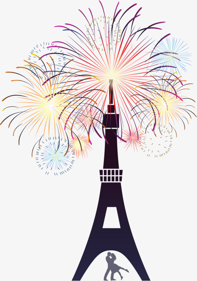 650x928 Fireworks Tower, Eiffel Tower, Silhouette, Eiffel Tower Png