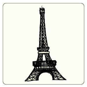 300x300 Free Vector Eiffel Tower