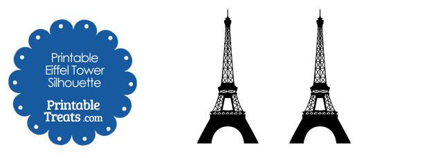 610x229 Printable Eiffel Tower Silhouette Printable