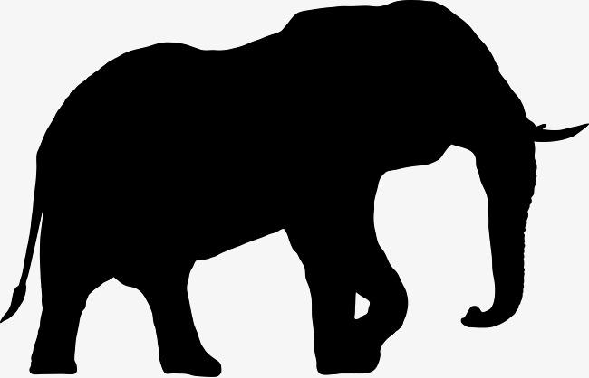 650x418 Elephant Silhouette, Elephant, Black White Png Image
