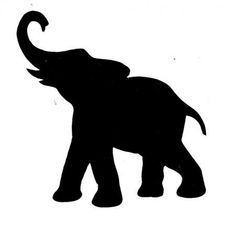 236x226 Elephant Silhouette Trunk Up Clipart