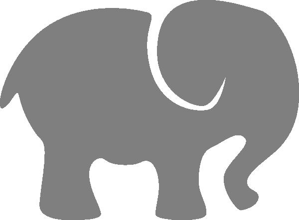 600x442 Elephant Silhouette Clip Art Gray Elephant Clip Art